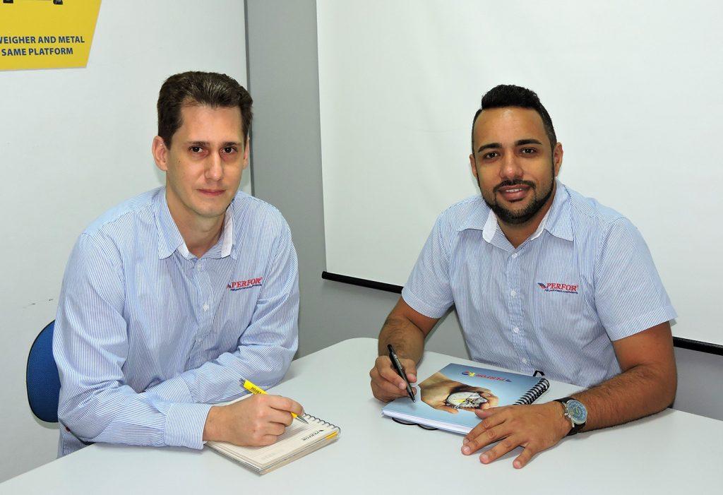 Nilson Kohls, gerente de Engenharia, e Marco Antonio da Cruz, gerente Comercial da Perfor