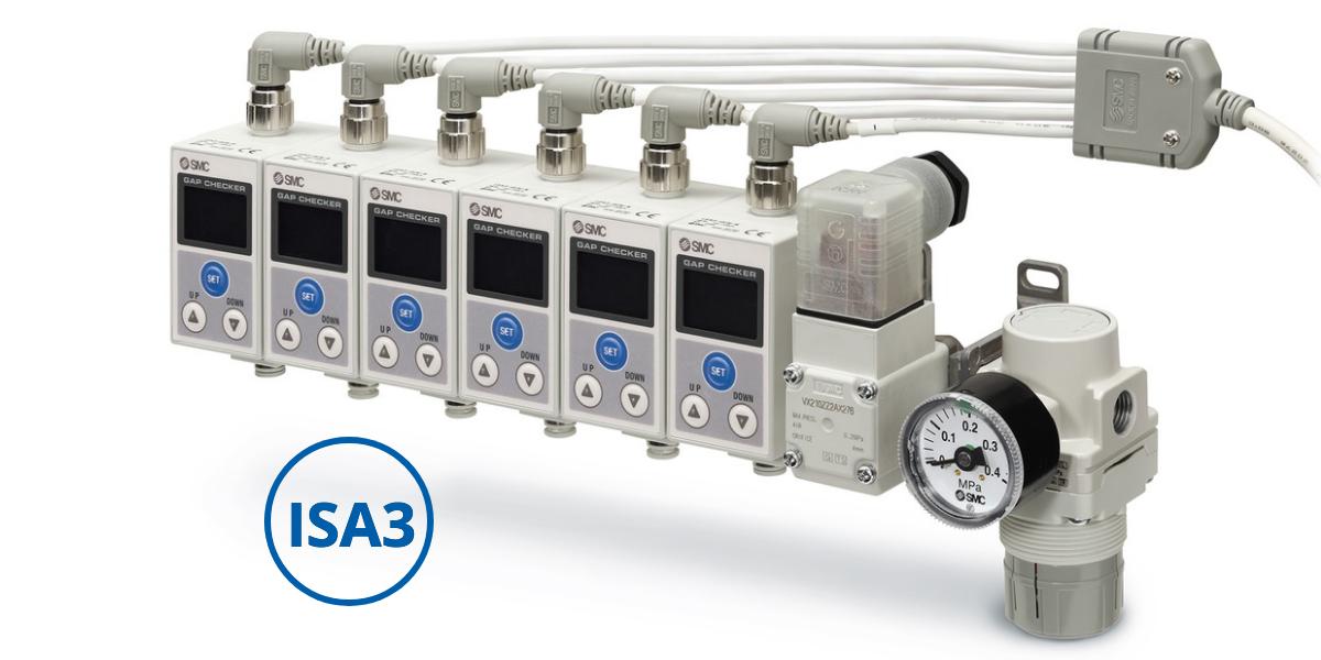 ISA3: sensor pneumático de presença de peças
