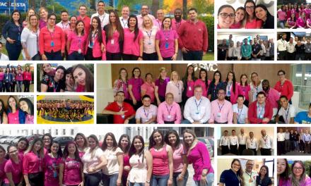 Todos de rosa contra o câncer de mama