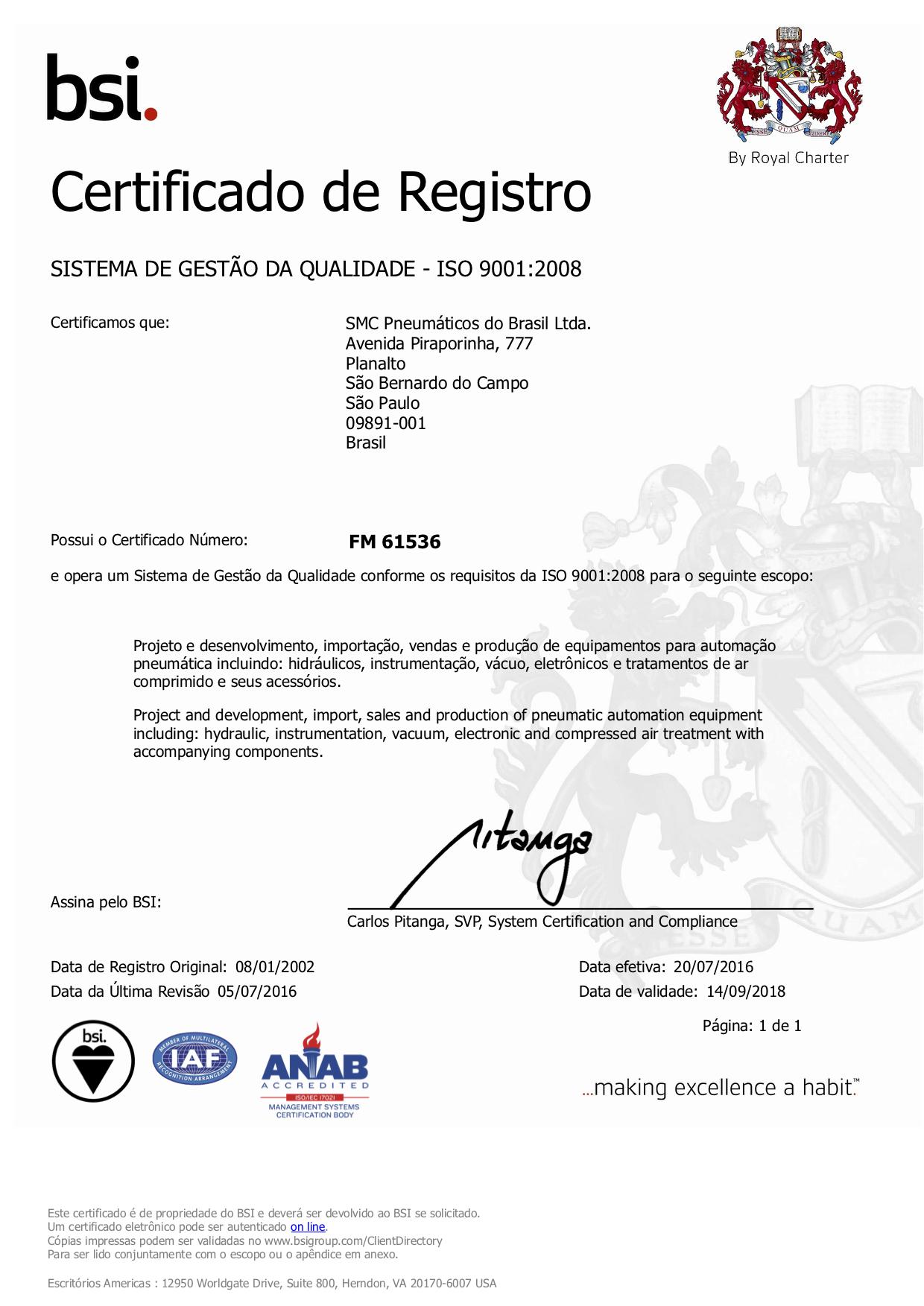 Certificado ISO 9001-2008
