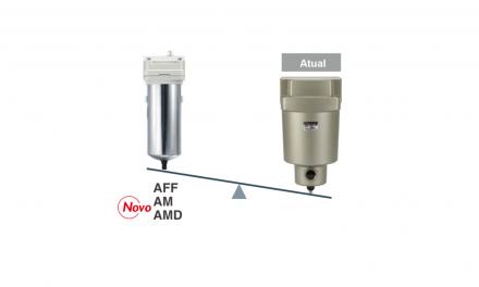 Mantenha o ar limpo com os filtros para linha primária das Séries AFF e AMs