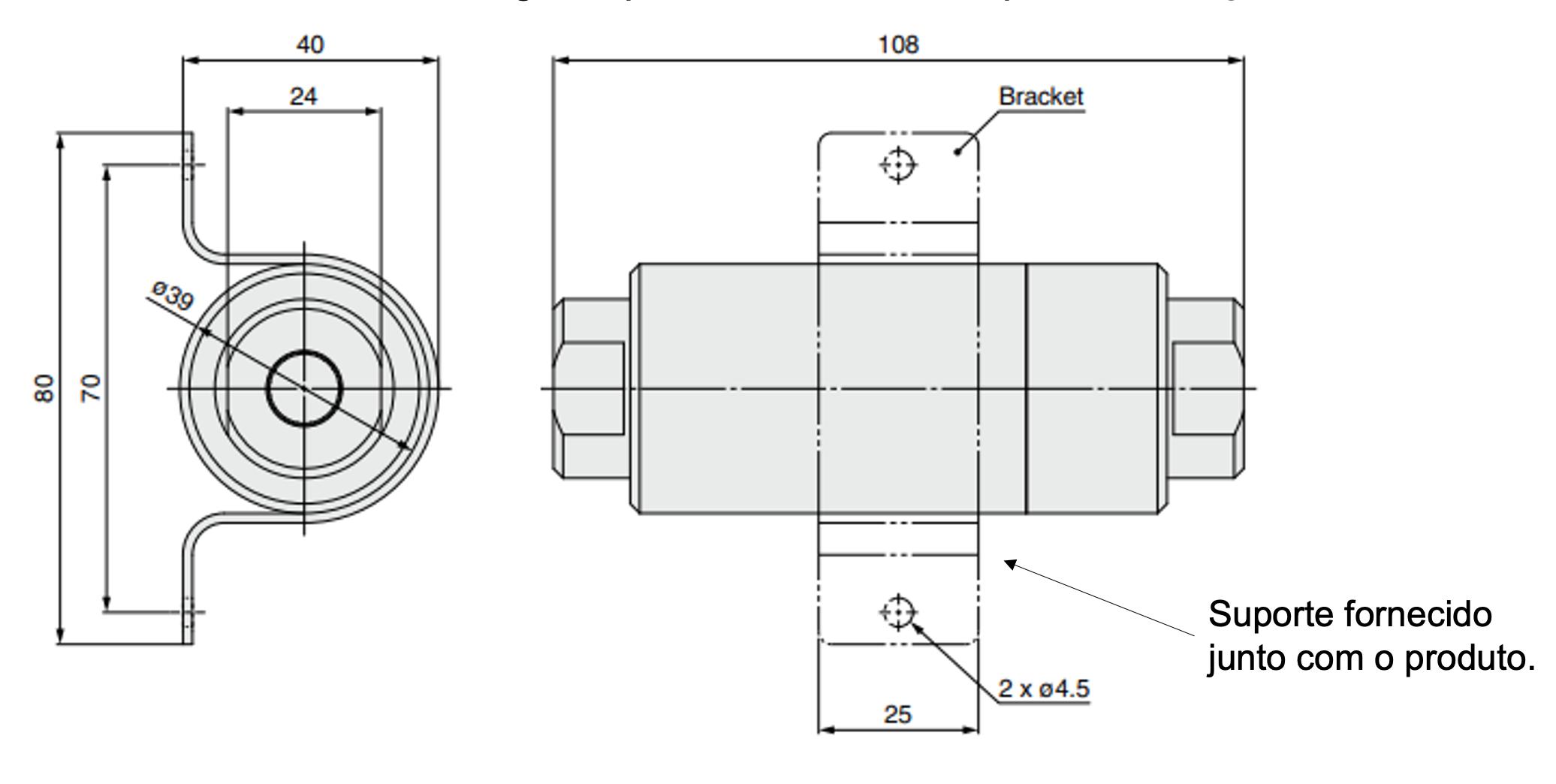Dimensões e montagem SFDA   SMC