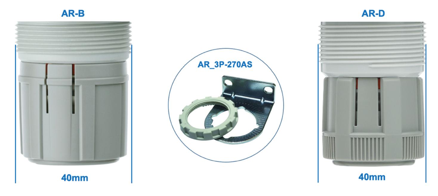 Ergonomia da pega AR-B e AR-D  SMC