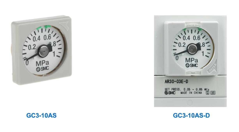 Indicador de faixa de pressão do manômetro   SMC